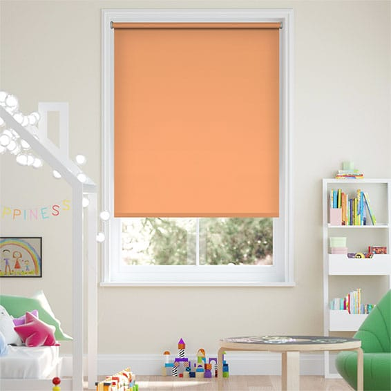 Santiago Blackout Papaya Roller Blind