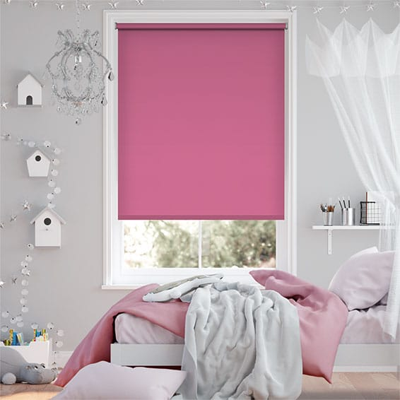 Santiago Blackout Passion Pink Roller Blind