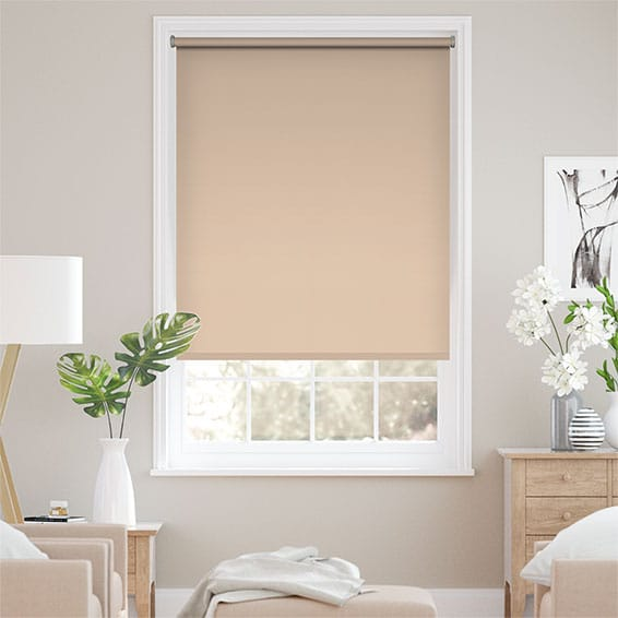 Santiago Blackout Powder Pink Roller Blind
