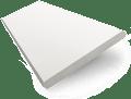 Satin Pure White Faux Wood Blind - 38mm Slat sample image