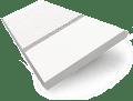 Satin Pure White & White Faux Wood Blind - 50mm Slat slat image