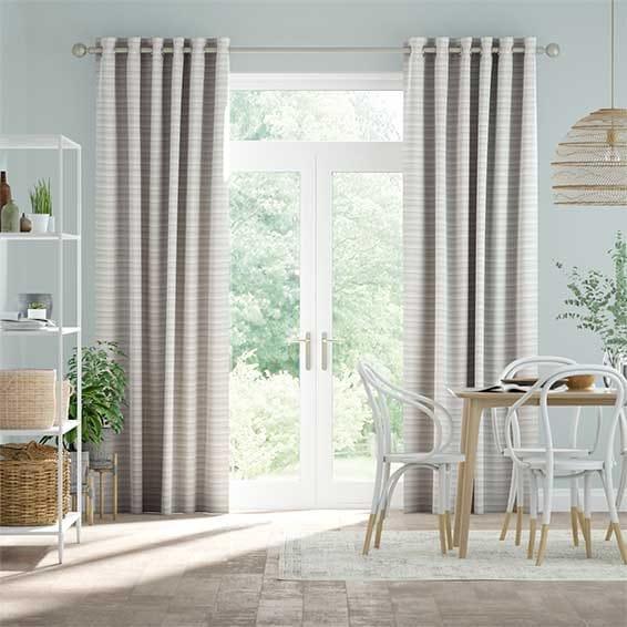 Scandinavia Stripe Aqua Curtains