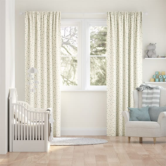 Scattered Hearts Duck Egg Curtains