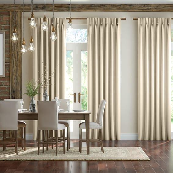 Scintilla Crème Café Curtains