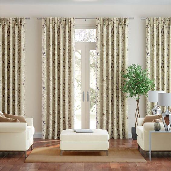 Secret Garden Faux Silk Autumn Curtains