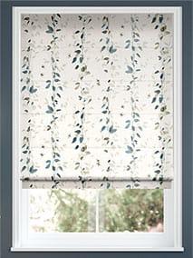 Secret Garden Faux Silk Inky Blue Roman Blind thumbnail image