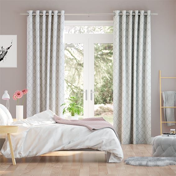 Selene Embroidered Pearl Curtains