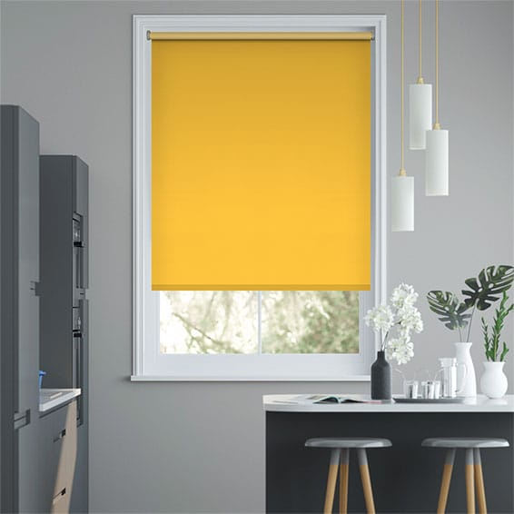 Sevilla Blackout Buttercup Roller Blind