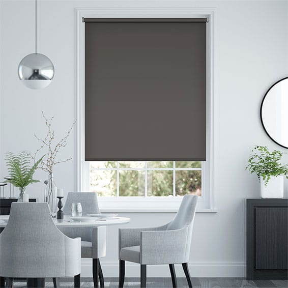 Sevilla Blackout Charcoal Roller Blind