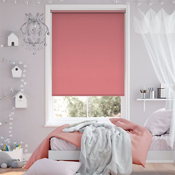 Sevilla Blackout Flamingo Pink Roller Blind
