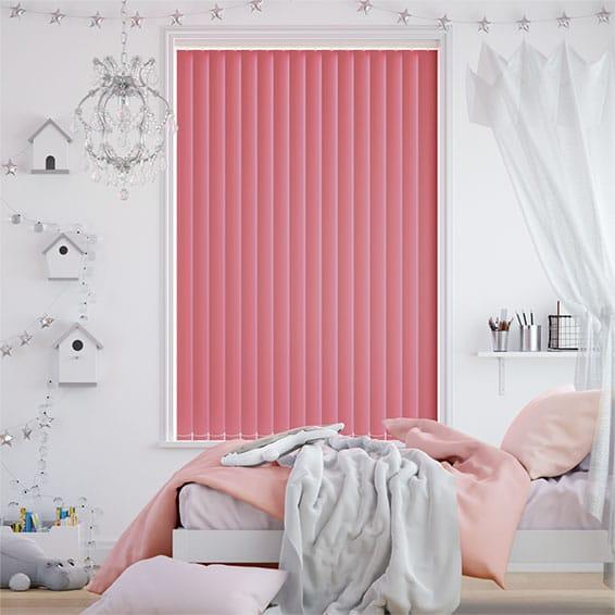 Sevilla Flamingo Pink Vertical Blind