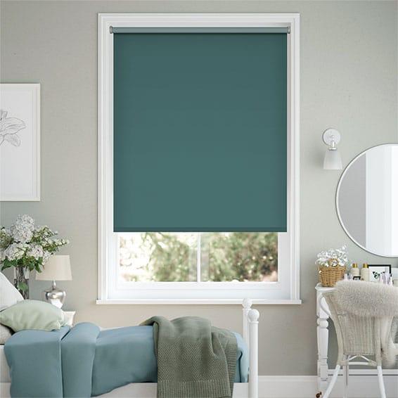 Sevilla Blackout Kingfisher Roller Blind