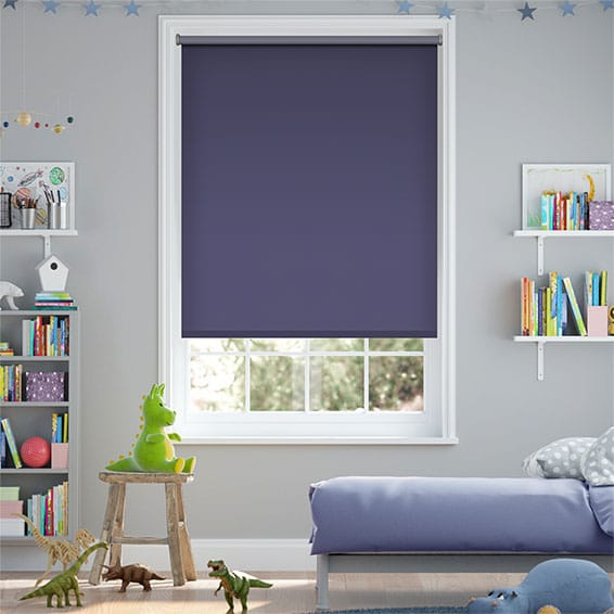 Sevilla Blackout Royal Blue Roller Blind