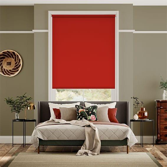 Sevilla Blackout Vivid Red Roller Blind