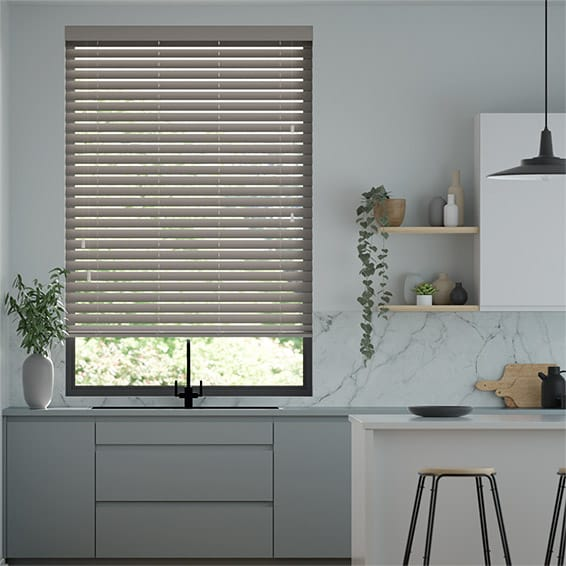 Shadow Grey Wooden Blind - 50mm Slat