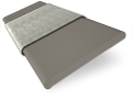 Shadow Grey and Elephant Grey Wooden Blind - 50mm Slat slat image