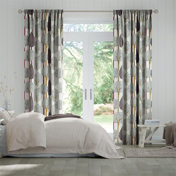 Silhouette Cerise Curtains