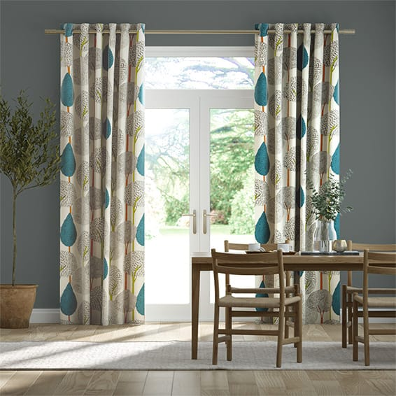 Silhouette Peacock Curtains