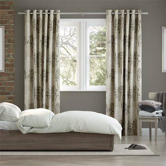Slender Forest Linen Mist Curtains