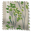Slender Forest Linen Spring Green Roman Blind sample image