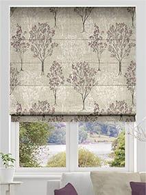 Slender Forest Linen Vintage Violet Roman Blind thumbnail image