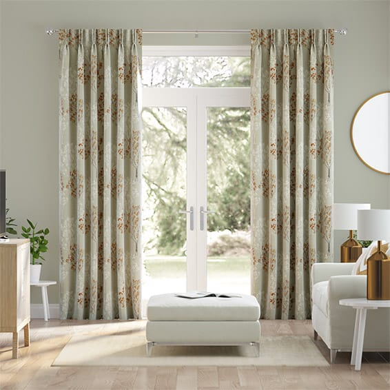Slender Forest Velvet Autumn Curtains