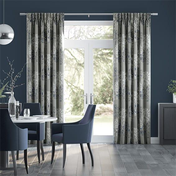 Slender Forest Velvet Moonlight Curtains