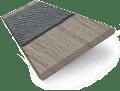 Smoke Whisper & Grey Faux Wood Blind - 50mm Slat sample image