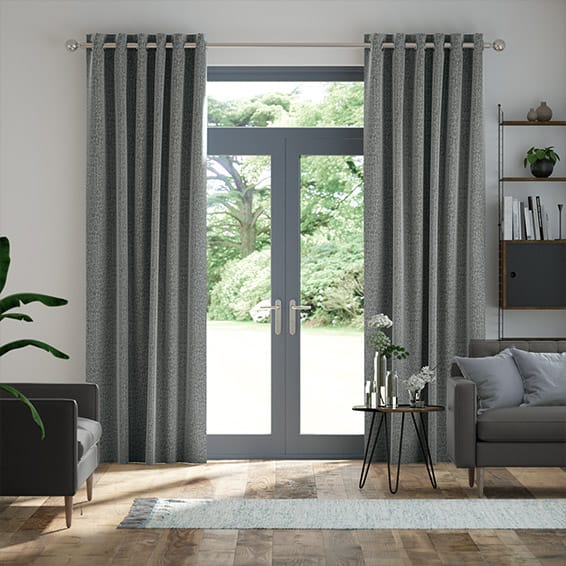 Smooth Sisal Smoky Steel Curtains