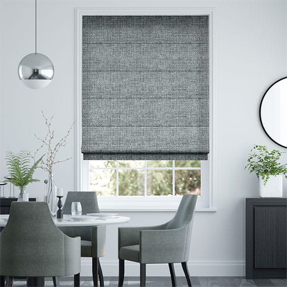Smooth Sisal Smoky Steel Roman Blind