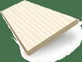 Soft Cream Faux Wood Blind - 50mm Slat slat image
