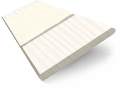 Soft Cream & Cream Faux Wood Blind - 50mm Slat slat image