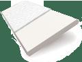 Soft Gloss White & Snow Wooden Blind - 50mm Slat sample image