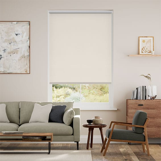Chromium Thermal Blackout Putty Roller Blind