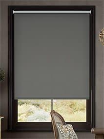 Chromium Thermal Blackout Slate Roller Blind thumbnail image