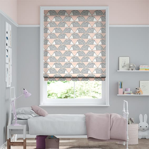 Spike Blush Roman Blind