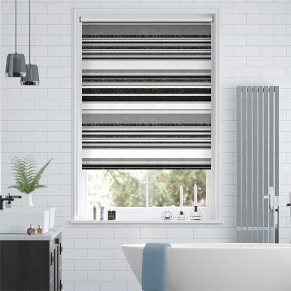 Splash Blackout Calcutta Stripe Slate Roller Blind