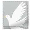 Splash Blackout Paper Doves Dove Roller Blind slat image