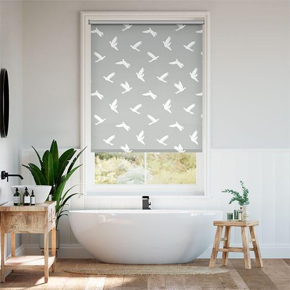 Splash Blackout Paper Doves Dove Roller Blind