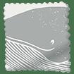 Splash Blackout Whale of a Time Slate Roller Blind slat image