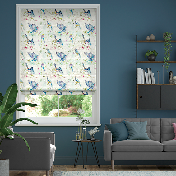 Spring Flight Cream Roman Blind