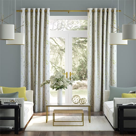 Spring Meadow Embroidered Spring Curtains