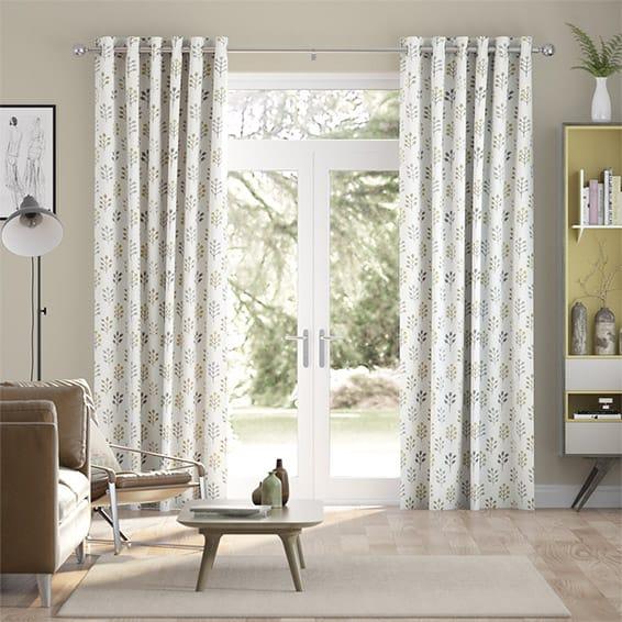 Spring Prairie Linen Mellow Gold Curtains