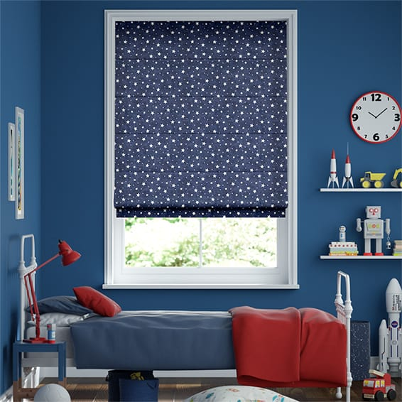 Starry Skies Blue Roman Blind