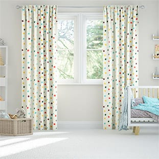 Starry Skies Multi Brights Curtains thumbnail image
