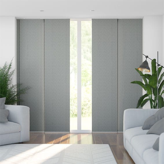 Static Pebble Grey Panel Blind