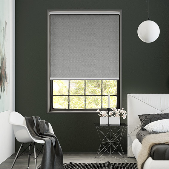 Static Blackout Pebble Grey Roller Blind