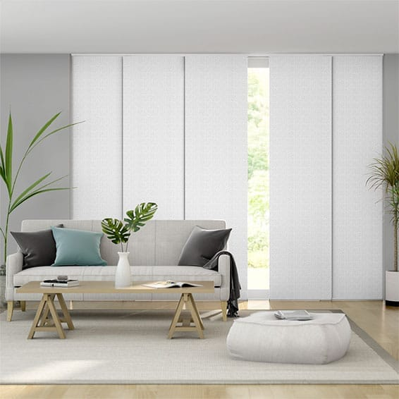 Static White Panel Blind