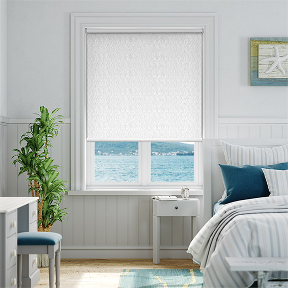 Static Blackout White Roller Blind