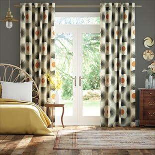 Striped Petal Orange Curtains thumbnail image